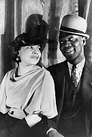 0124469 © Granger - Historical Picture ArchiveBILL 'BOJANGLES' ROBINSON   (1878-1949). American tap dancer. Photographed with his wife, Fannie, by Carl Van Vechten, 1933.