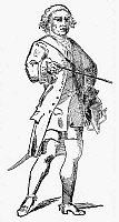 0070864 © Granger - Historical Picture ArchiveCOMTE DE ROCHAMBEAU   (1725-1807). French soldier. Contemporary drawing attributed to his Swedish aide-de-camp in America, Count Hans Axel Fersen.