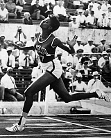 0169668 © Granger - Historical Picture ArchiveWILMA RUDOLPH (1940-1994).   American track and field athlete. Rudolph winning the 100 meter dash in the 1960 Summer Olympics in Rome.