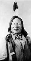 0003048 © Granger - Historical Picture ArchiveRAIN-IN-THE-FACE (d. 1905).   Sioux chief. Photographed in 1885 by David F. Barry.