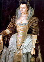 0066032 © Granger - Historical Picture ArchiveLADY RALEIGH (1565-1647).   Nee Elizabeth Throckmorton. Wife of Sir Walter Raleigh. Painting by an unknown artist.