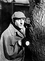 0068102 © Granger - Historical Picture ArchiveSHERLOCK HOLMES.   Basil Rathbone (1892-1967). English actor. In the role of 'Sherlock Holmes'.