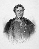0070753 © Granger - Historical Picture Archive1ST BARON RAGLAN   (1788-1855). Fitzroy James Henry Somerset, 1st Baron Raglan. English field marshall. Line and stipple engraving, English, 19th century.