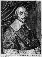 0057439 © Granger - Historical Picture ArchiveCARDINAL RICHELIEU   (1585-1642). Armand-Jean du Plessis, duc de Richelieu. French cardinal and statesman. Copper engraving, Flemish, late 17th century, by Edme de Boulonois.