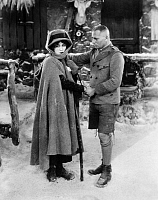 0071807 © Granger - Historical Picture ArchiveERICH VON STROHEIM   (1885-1957). Austrian (naturalized American) actor and film director. With Fay Wray in a scene from 'The Wedding March,' 1927.