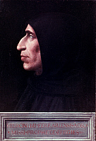 0048466 © Granger - Historical Picture ArchiveGIROLAMO SAVONAROLA   (1452-1498). Italian Dominican monk and religious reformer. Oil on wood, c1498, by Fra Bartolomeo.