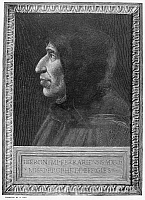 0071103 © Granger - Historical Picture ArchiveGIROLAMO SAVONAROLA   (1452-1498). Italian Dominican monk and religious reformer. Wood engraving after Fra Bartolommeo.
