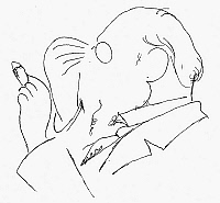 0014623 © Granger - Historical Picture ArchiveERIK SATIE (1866-1925).   French composer. Drawing by Jean Cocteau.