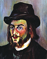 0031626 © Granger - Historical Picture ArchiveERIK SATIE (1866-1925).   French composer. Oil on canvas, 1893, by Suzanne Valadon.