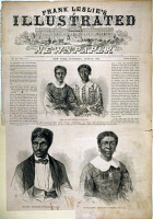0051660 © Granger - Historical Picture ArchiveDRED SCOTT (1795?-1858).   Scott, his wife, and children featured on the front page of Frank Leslie's Illustrated Newspaper, 27 June 1857.