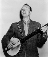 0325316 © Granger - Historical Picture ArchivePETE SEEGER (1919-2014).   American folk singer and composer. Photograph by Fred Palumbo, 1955.