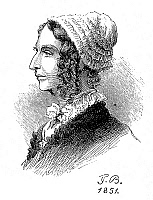 0051108 © Granger - Historical Picture ArchiveCATHARINE MARIA SEDGWICK   (1789-1867). American novelist. Wood engraving after a drawing, 1851, by Frederika Bremer.