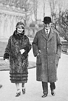 0006184 © Granger - Historical Picture ArchiveMARGARET SANGER (1879-1966).   American leader of birth-control movement. With her second husband, J. Noah H. Slee, in Germany, 1927.