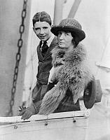 0266799 © Granger - Historical Picture ArchiveMARGARET SANGER   (1879-1966). American birth control activist, sex educator, and nurse. Photographed with her son, possibly Grant, in Japan, c1922.