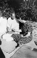 0526901 © Granger - Historical Picture ArchiveMARGARET SANGER (1879-1966).   American birth control activist, sex educator, and nurse. Photographed with Mahatma Gandhi, February 1936.