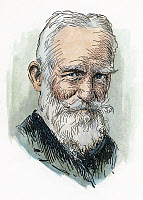 0041604 © Granger - Historical Picture ArchiveGEORGE BERNARD SHAW   (1856-1950). Irish man of letters. Pen-and-ink drawing, 1935, by Dwight C. Sturges.