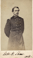0528898 © Granger - Historical Picture ArchiveROBERT G. SHAW (1837-1863).   American soldier. Photograph, 1863.