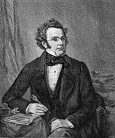 0004994 © Granger - Historical Picture ArchiveFRANZ SCHUBERT (1797-1828).   Austrian composer. Wood engraving after a painting, 1875, by Wilhelm August Rieder.