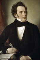 0023961 © Granger - Historical Picture ArchiveFRANZ SCHUBERT (1797-1828).   Austrian composer. Oil on canvas (detail), 1875, by Wilhelm August Rieder.