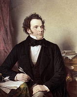 0025372 © Granger - Historical Picture ArchiveFRANZ SCHUBERT (1797-1828).   Austrian composer. Oil on canvas, 1875, by Wilhelm August Rieder.