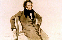 0047416 © Granger - Historical Picture ArchiveFRANZ SCHUBERT (1797-1828).   Austrian composer. Watercolor, 1825, by Wilhelm August Rieder.