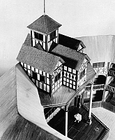0175375 © Granger - Historical Picture ArchiveTHE GLOBE THEATRE.   Replica of the Globe Theatre at the Folger Shakespeare Library in Washington D.C. Photograph, c1950.