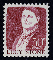 0022637 © Granger - Historical Picture ArchiveLUCY STONE (1818-1893).   American woman suffragist. On a U.S. postage stamp, 1968.