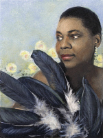 0048616 © Granger - Historical Picture ArchiveBESSIE SMITH (1894-1937).   American singer and songwriter. Oil over a photograph, by Carl Van Vechten, 1936.