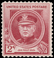 0113985 © Granger - Historical Picture ArchiveJOHN PHILIP SOUSA (1854-1932).   American bandmaster and composer. U.S. commemorative postage stamp, 1940.