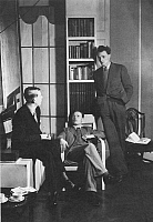 0060230 © Granger - Historical Picture ArchiveAUDEN, ISHERWOOD, SPENDER.  English writers W.H. Auden, Christopher Isherwood, and Stephen Spender; photographed in 1938.