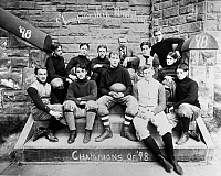 0109780 © Granger - Historical Picture ArchiveJOSEPH WARREN STILWELL (1883-1946).   American army officer. Stilwell (front row, second from left) on the Yonkers High School football team. Photographed c1898.