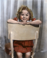 0053678 © Granger - Historical Picture ArchiveSHIRLEY TEMPLE (1928-2014).   American child actress. Oil over a photograph, c1935.
