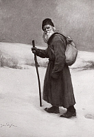 0057583 © Granger - Historical Picture ArchiveLEO TOLSTOY (1828-1910).   Russian writer and philosopher. Painting by Jan Styka, c1910.