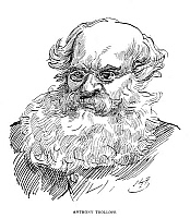 0071453 © Granger - Historical Picture ArchiveANTHONY TROLLOPE   (1815-1882). English novelist. Pen-and-ink drawing by Harry Furniss (1854-1925).