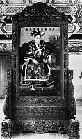 0120681 © Granger - Historical Picture ArchiveTZ'U HSI (1835-1908).   Empress dowager of China, 1875-1908. Painting, 1903-04, by Katherine Augusta Carl, with an elaborate wooden frame designed by the Empress herself.
