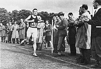 0018088 © Granger - Historical Picture ArchiveALAN MATHISON TURING   (1912-1954). English mathematician and logician. Finishing second in a three-mile race at Dorking, England in 1946.