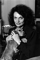 0410237 © Granger - Historical Picture ArchiveDIANE VON FURSTENBERG   (1946- ). Belgian-born American fashion designer known for her wrap dress. Photograph, c1985. Full Credit: Louis Monier / Rue des Archives / Granger, NYC -- All Rights Reserved.