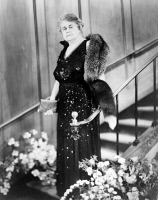 0622732 © Granger - Historical Picture ArchiveEDITH GALT WILSON (1872-1961).   First Lady of President Woodrow Wilson. Dressed in gown and fox fur. Photograph, c1950.