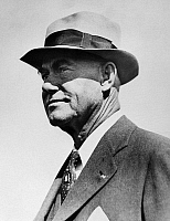 0170366 © Granger - Historical Picture ArchiveFIELDING H. YOST (1871-1946).   American football coach and college athletics administrator. Photographed in 1932, while Athletics Director at the University of Michigan.