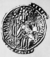 0014703 © Granger - Historical Picture ArchiveVLADIMIR I (c956-1015).   First Christian ruler of Kievan Rus, c978-1015. Saint Vladimir the Great depicted on a silver coin of his reign.