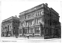 0370926 © Granger - Historical Picture ArchiveVANDERBILT MANSION.   The William Vanderbilt mansion on Fifth Avenue, New York City. Wood engraving, American, 1885.