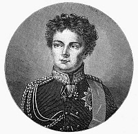 0076667 © Granger - Historical Picture ArchiveFREDERICK WILLIAM IV   (1795-1861). King of Prussia, 1840-1861. As the Crown Prince, age twenty-five. Line engraving, 19th century, after a painting, 1820, by Christian Tangermann.