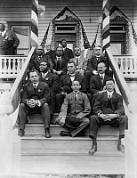 0623577 © Granger - Historical Picture ArchiveBOOKER T. WASHINGTON   (1856-1915). American educator. Washington (second row, center), with his colleagues. Photograph, c1915.