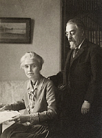 0015096 © Granger - Historical Picture ArchiveBEATRICE WEBB (1858-1943).   Née Potter. English Fabian socialist and writer. With her husband Sidney James Webb (1859-1947).