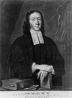 0168699 © Granger - Historical Picture ArchiveJOHN WESLEY (1703-1791).   English theologian and founder of Methodism. Mezzotint by John Faber, c1730-1756.