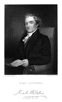0014977 © Granger - Historical Picture ArchiveNOAH WEBSTER (1758-1843).   American lexicographer and author. Steel engraving, 1869, after a painting by Jared Flagg.