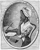 0005706 © Granger - Historical Picture ArchivePHILLIS WHEATLEY   (1753?-1784). African-American poet. Engraved frontispiece to her