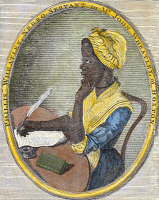 0008911 © Granger - Historical Picture ArchivePHILLIS WHEATLEY   (1753?-1784). African-American poet. Engraved frontispiece to her