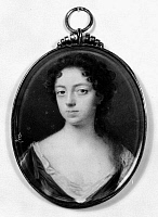 0049157 © Granger - Historical Picture ArchiveCOUNTESS OF WINCHILSEA   (1661-1720). Anne Finch. English poet. Miniature by L. Crosse.