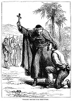 0014782 © Granger - Historical Picture ArchiveWILLIAM WALKER (1824-1860).   American adventurer. Walker before his execution at Trujillo, Honduras, on 12 September 1860. Wood engraving, 19th century.